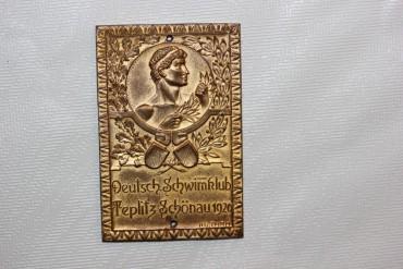 Medaille Deutsch Schwimmklub Teplitz Schönau 1920