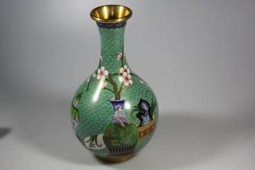 Sehr schöne Vase, Cloisonne wohl China