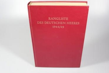 Buch Rangliste des Deutschen Heeres