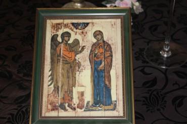 Heinrich Porzellanplatte Verkündigung von Ustjus
