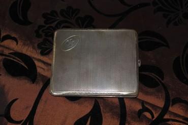 Zigaretten Etui echt Silber um 1926