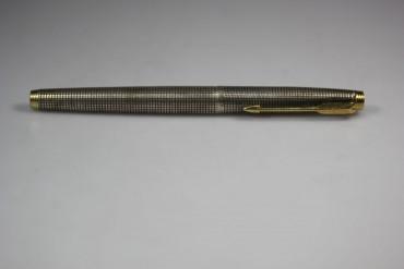 Parker Füller CAP & Barrel Sterling Silber mit 585 Goldfeder