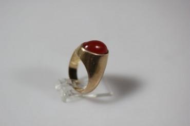 Ring 585er Gold mit Halbedelstein