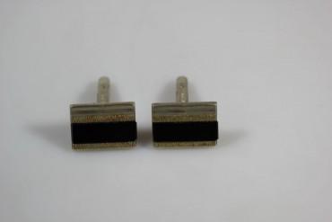 Manschettenknöpfe echt Silber 835er mit Onyx Platte