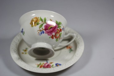 Rosenthal Kaffeetasse Maria: Sommerstrauß Made in U.S Zone