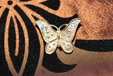 Schmetterling echt Gold 333er Stempel