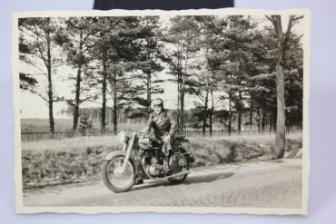 Originale Fotographie Motorrad wohl aus den 50er Jahren