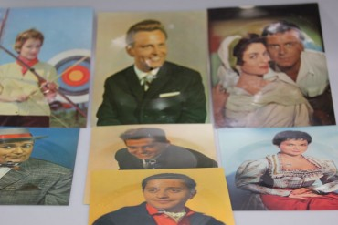 7 Schallplatten Postkarten Bildpostkarten u.a. DDR.